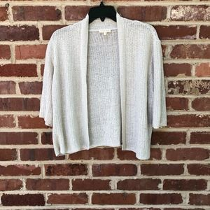 Eileen Fisher Cardigan Sweater XL Silk Cotton
